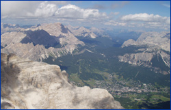 View of Cortina from summit