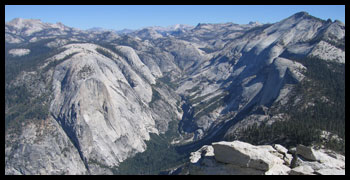 The view from Half Dome