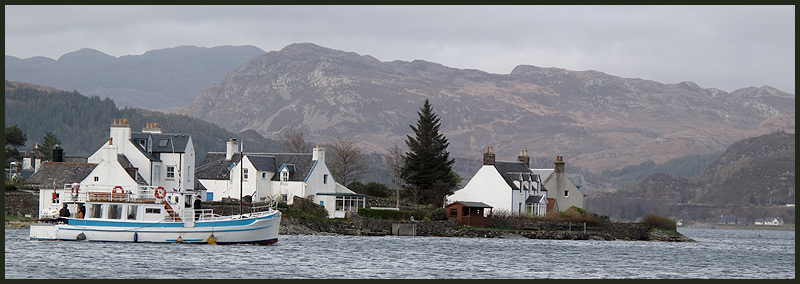 A view from the seafront at Plockton