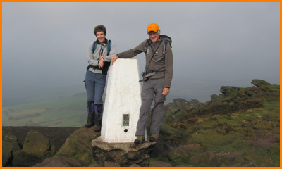 At the 505 metre trig point
