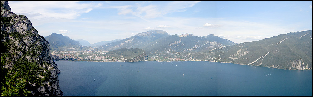 The view to Lago di Garda from the final descent of the trip